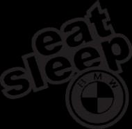 KOSZULKA DAMSKA EAT SLEEP BMW