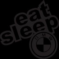 BLUZA MĘSKA Z KAPTUREM EAT SLEEP BMW