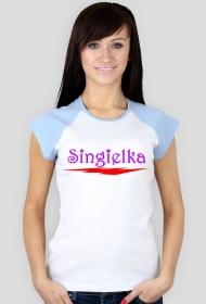 Koszulka damska z kolorowymi rękawami SINGIELKA