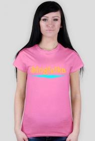 Optymistyczny t-shirt na wiosnę Singielka Team