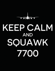 "AeroStyle - podkładka pod mysz ""Keep calm and squawk 7700"""