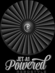 AeroStyle - bluza lotnicza czarna Jet A1 powered