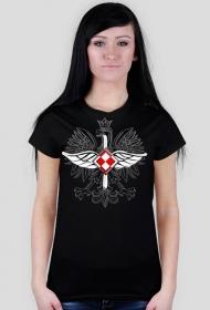 AeroStyle - czarna damska koszulka lotnicza - korpusówka