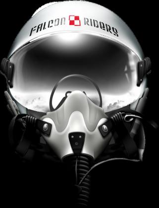 AeroStyle - Falcon riders, hełm pilota z szachownicą, męska