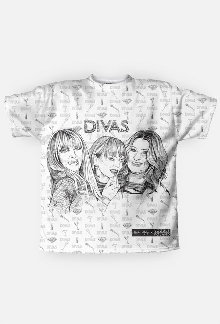Divas / Maryla Rodowicz, Izabela Trojanowska, Beata Kozidrak / t-shirt regular