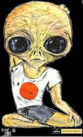 T-shirt damski Alien Joga