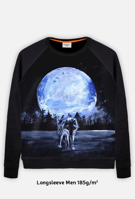 Bluza męska Full Print Totem Animals Wilk