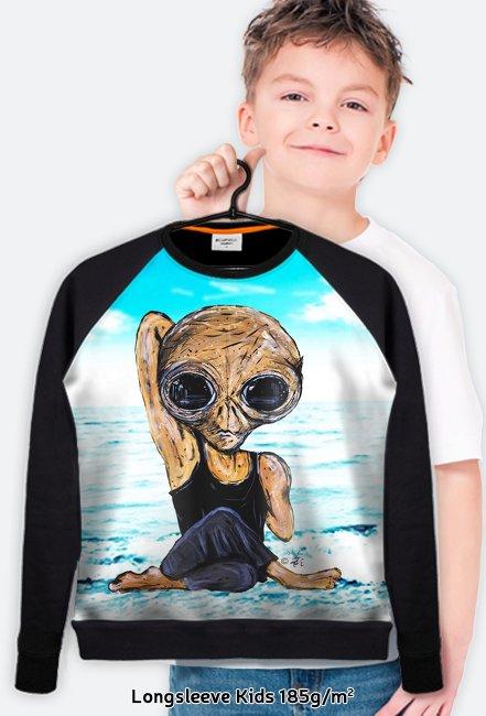 Bluza dziecięca FullPrint Alien joga 1