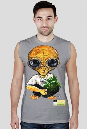 Koszulka bez rękawów męska Canna - Alien fenix