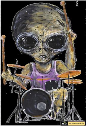 T-shirt dziecięcy Alien - Perkusja