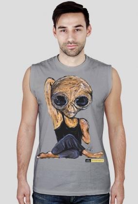 Koszulka bez rękawów męska Alien - Joga