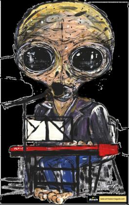 Koszulka bez rekawów męska Alien - Klawisze