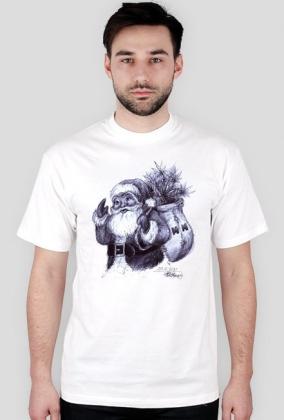 T-shirt męski 5XL Mikołaj