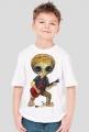 T-shirt dziecięcy Alien - gitara