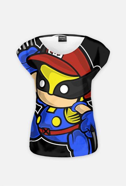 MvDC! Mario Wolverine! Koszulka Damska!