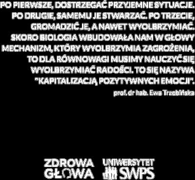 Czarna torba z cytatem prof. Trzebińskiej - Zdrowa Głowa i Uniwersytet SWPS