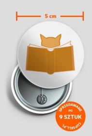 Przypinka Kot w Bookach