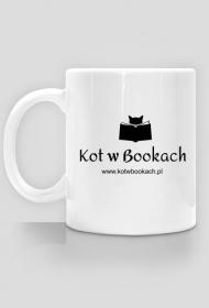 Kubek Kot w Bookach b&w