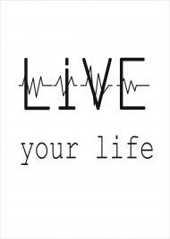 PLAKAT A2 Live Your