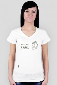 Stupid people t-shirt damski