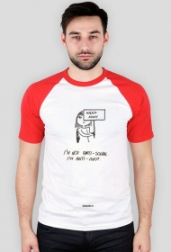 Anti idiot t-shirt męski