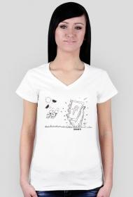 Fejsbuk żyje t-shirt damski2