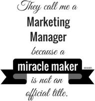 Marketing manager t-shirt męski