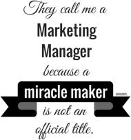 Marketing manager t-shirt damski