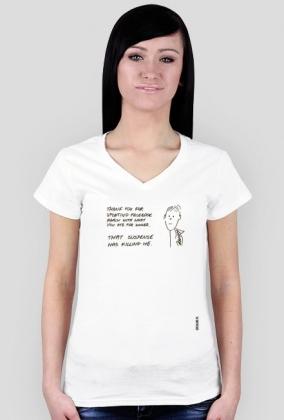 Suspense t-shirt damski