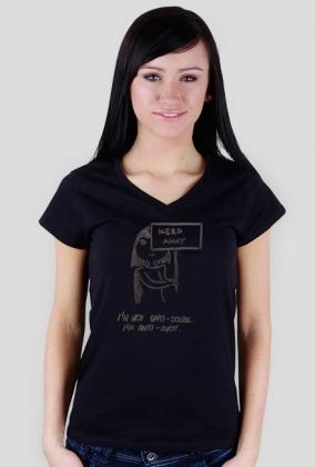 Anti idiot t-shirt damski
