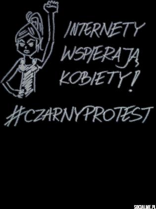 #czarnyprotest t-shirt damski