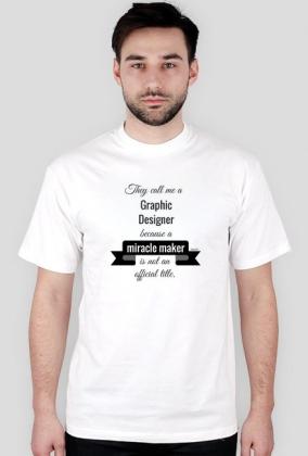graphic designer t-shirt męski