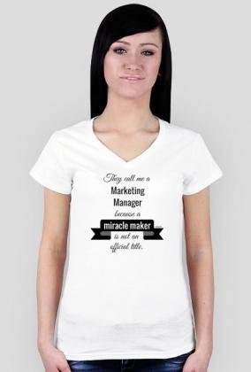 Marketing manager t-shirt damski
