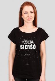 Koszulka damska - KOCIA SIERŚĆ
