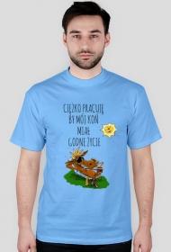 Koszulka Męska - GODNE ŻYCIE KONIA