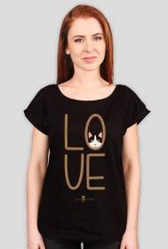 Koszulka damska - LOVE KOT
