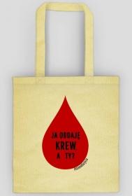 """Torba """"Ja oddaję krew, a Ty?"""""""