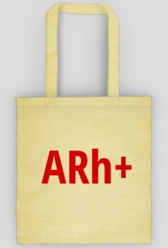 """Torba z grupą krwi """"ARh+"""""""