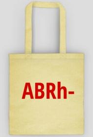 "Torba z grupą krwi ""ABRh-"