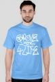 GROVE ST 4-LIFE GTA SA koszulka: biały napis