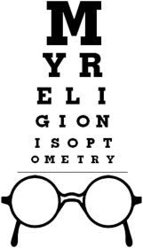 Koszulka męska - My religion is optometry