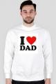 I love dad bluza biała bez kaptura