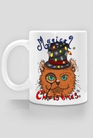 Kubek Świąteczny kot noszący cylinder - NOWOŚĆ!