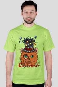 Koszulka Magiczny Świąteczny kot noszący cylinder - NOWOŚĆ!