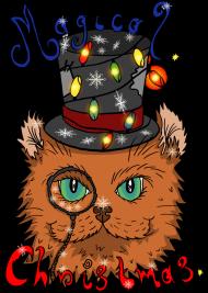 Koszulka Świąteczny kot noszący cylinder - NOWOŚĆ!