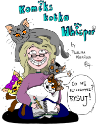 """PROMOCJA! Oficjalna koszulka """"Komiks kotka Whisper"""" by Paulina Różańska"""