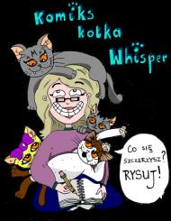 "PROMOCJA! Oficjalny kubek ""Komiks kotka Whisper"" by Paulina Różańska"