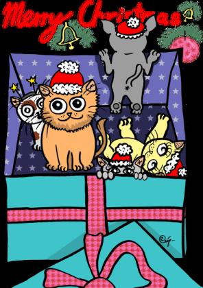 Kubek Kotki Wigilijne - prezent świąteczny - NOWOŚĆ!