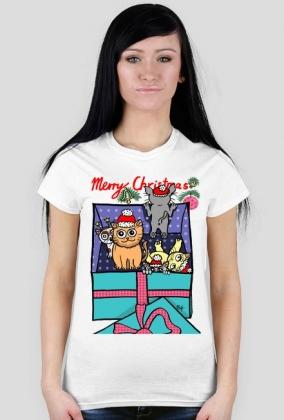 Koszulka Kotki Wigilijne - prezent świąteczny - NOWOŚĆ!