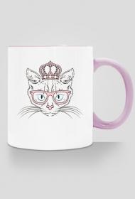 Kocia Księżniczka – kubek z kolorowym uchem